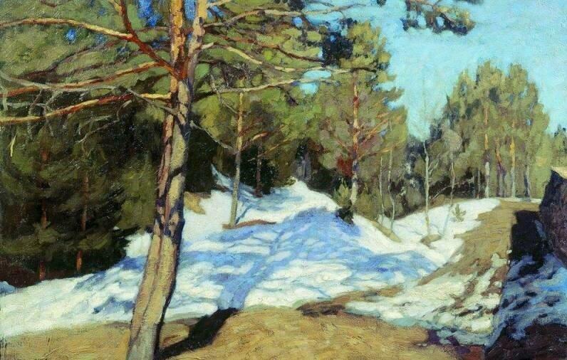 """""""Весна"""", 1909, холст, масло"""