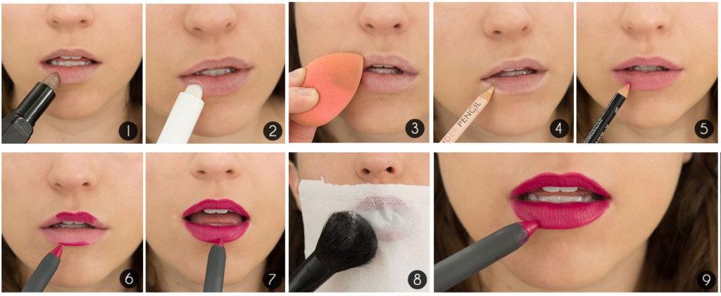 Как сделать в домашних условиях макияж пошаговые фото