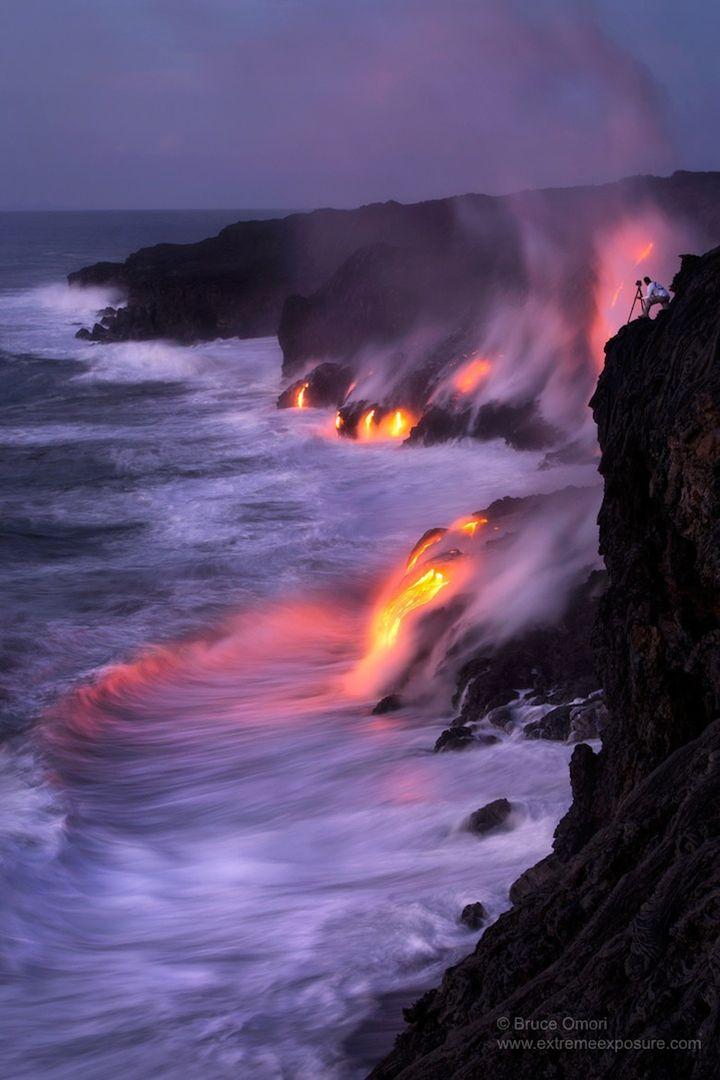 Раскаленная лава в фотографиях Брюса Омори (Bruce Omori)