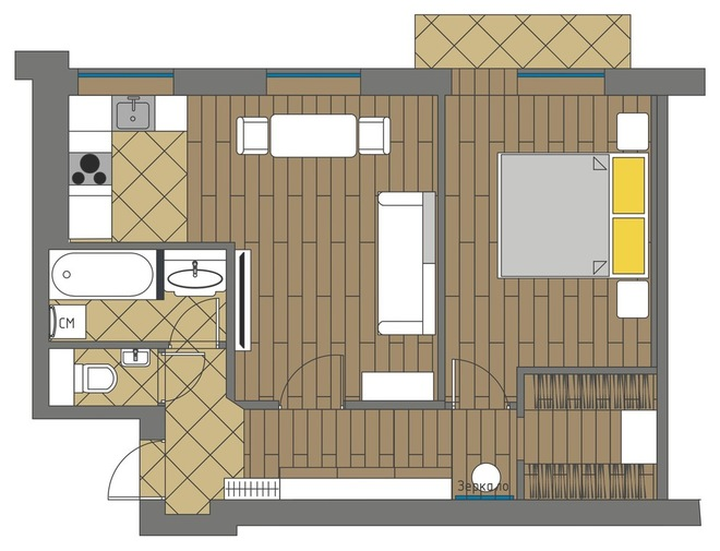 План этажа by Buro Brainstoorm