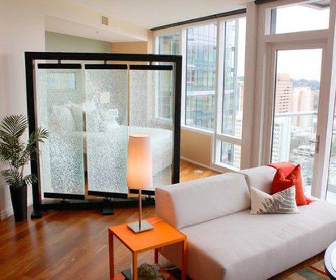 дизайн гостиной спальни ширма