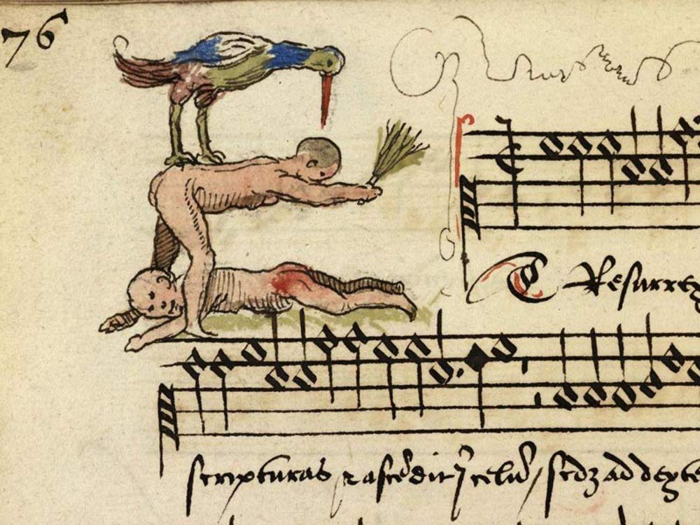Безумные и хулиганские миниатюры из фланмандского средневекового трактата интересное,интересные люди,история,увлечения,шок