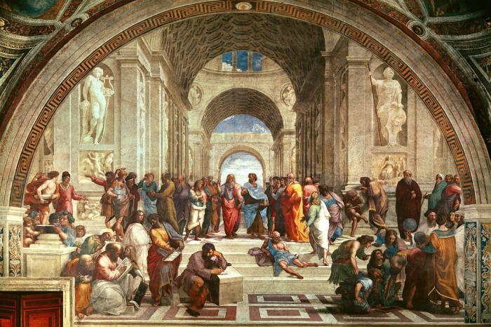 Афинская школа (1509 г.) - Рафаэль.