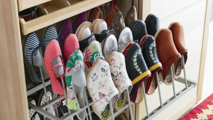 11 идей для компактного хранения обуви
