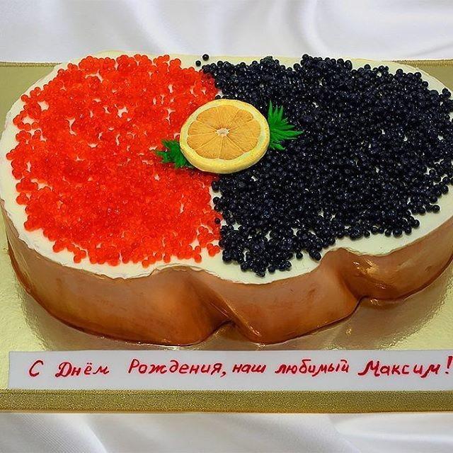 Черная икра... Интересно, какой процент россиян хоть раз ее пробовал за жизнь? прикол, россия, торт