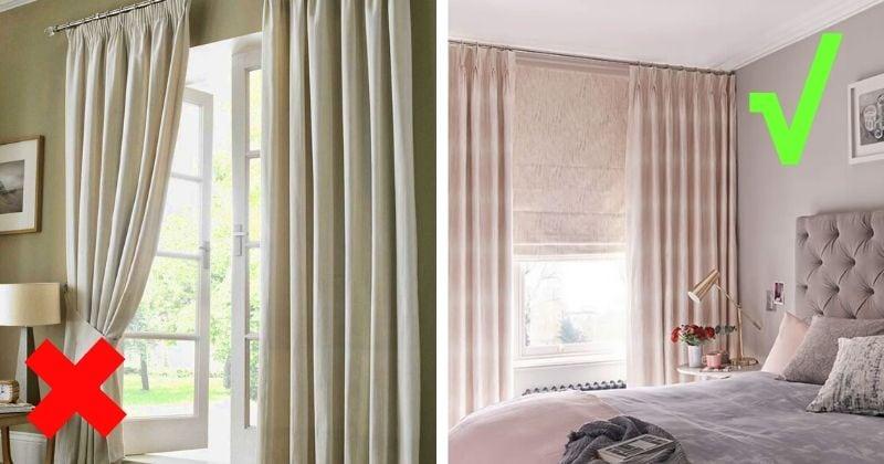 Что нельзя делать со шторами, если у вас комната с потолком ниже 2,5 м