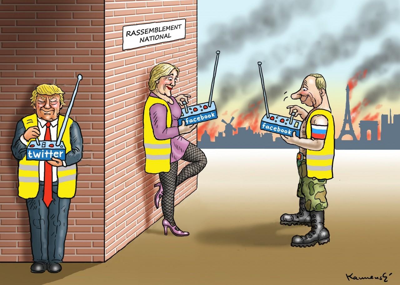 Пааааанеслась!!! Французские протесты в карикатуре