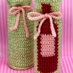 вязаные чехлы для бутылок