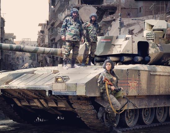 Sohu : российский танк Т-14 впервые появился в Сирии. После запуска танка в серийное производство Турции будет трудно удержать Идлиб