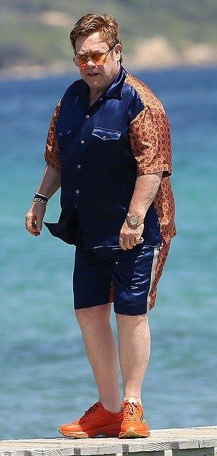 72-летний Элтон Джон поделился семейными фотографиями с отдыха заморские звезды,звезда,певец,шоубиz,шоубиз,Элтон Джон