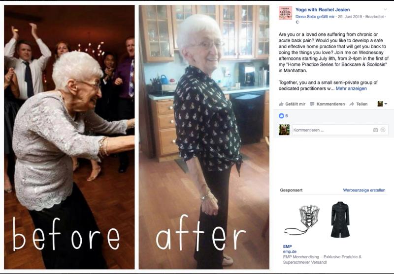 85-летняя бабушка преобразила свое тело с помощью йоги