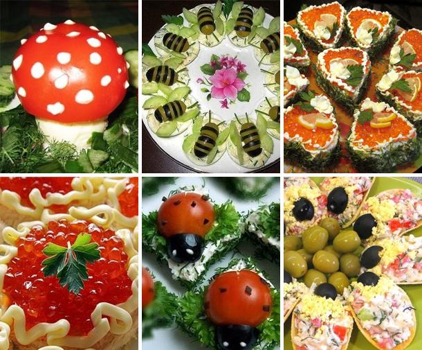 ТОП - 6 самых красивых и вкусных закусок на праздничный стол