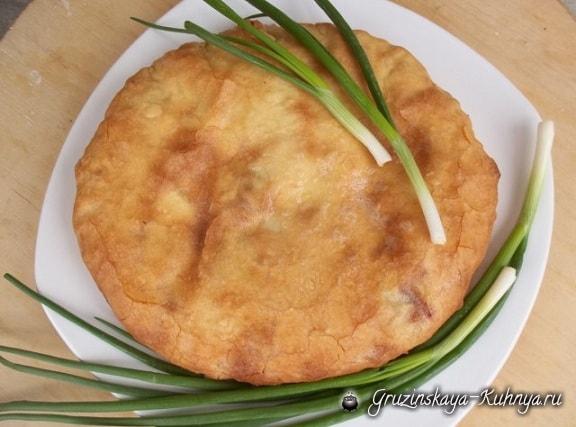 Сванские хачапури с зеленым луком выпечка,грузинская кухня,кулинария,хачапури