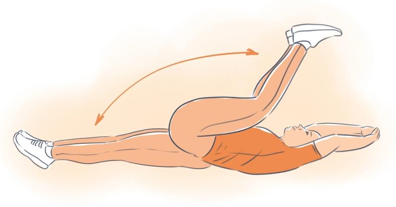 упражнения для похудения если болит спина