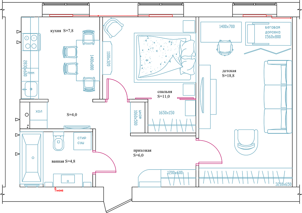 Обновление старенькой квартиры в Питере Фото
