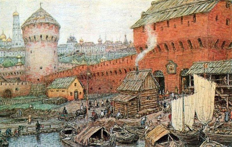 Московский Кремль - самая большая в мире средневековая крепость. Длина кремлевских стен - 2 километра 235 метров. информация, картинки, факты