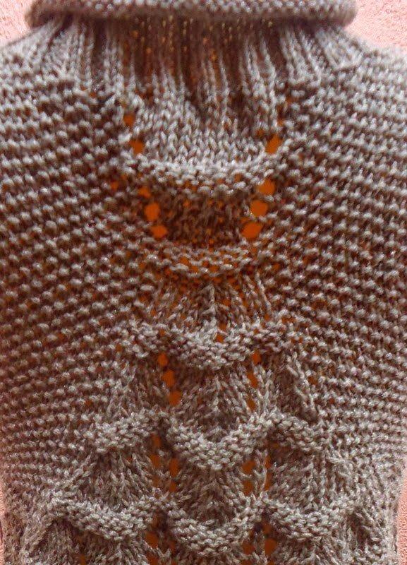 Интересный узор для вязания безрукавки 8