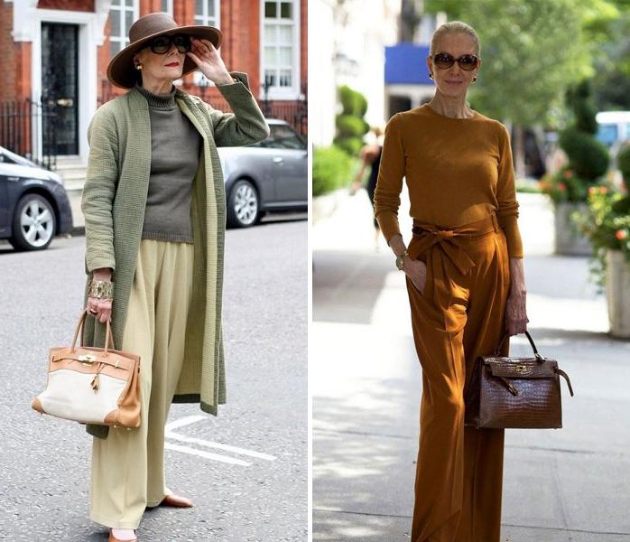 10 стильных образов для женщины за 40