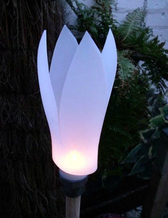 Садовые фонарики своими руками на солнечных батареях 2
