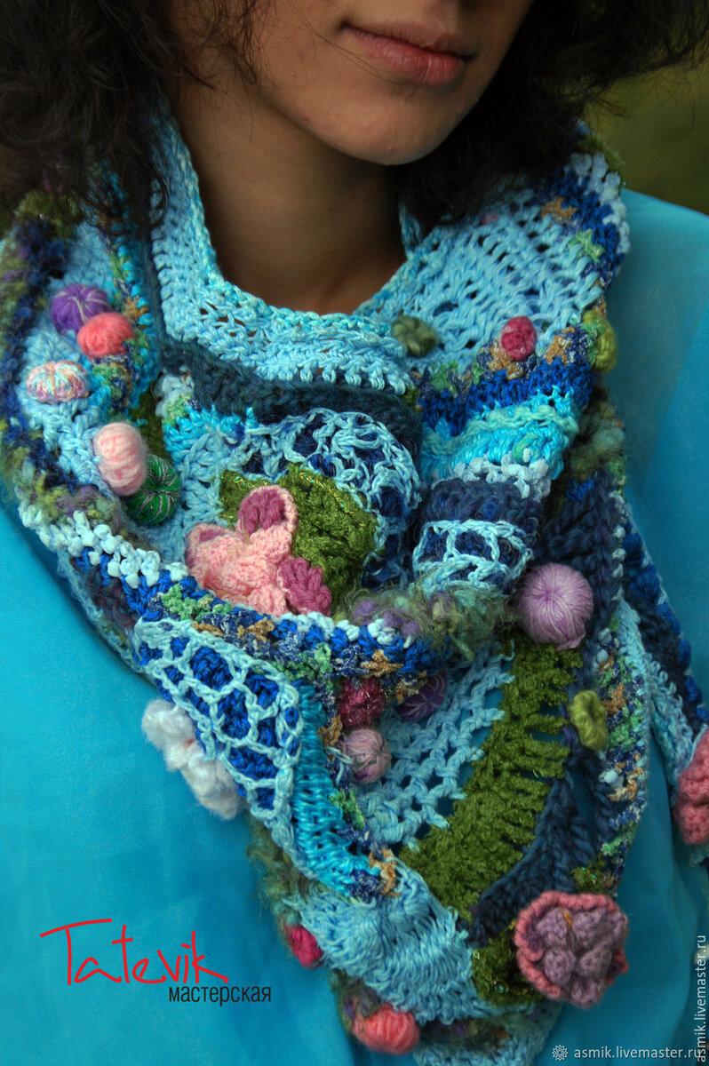 Весна в шарфах и снудах! Девочки, это шедеврально . Срочно вдохновляемся и вяжем) вязание,мода,одежда