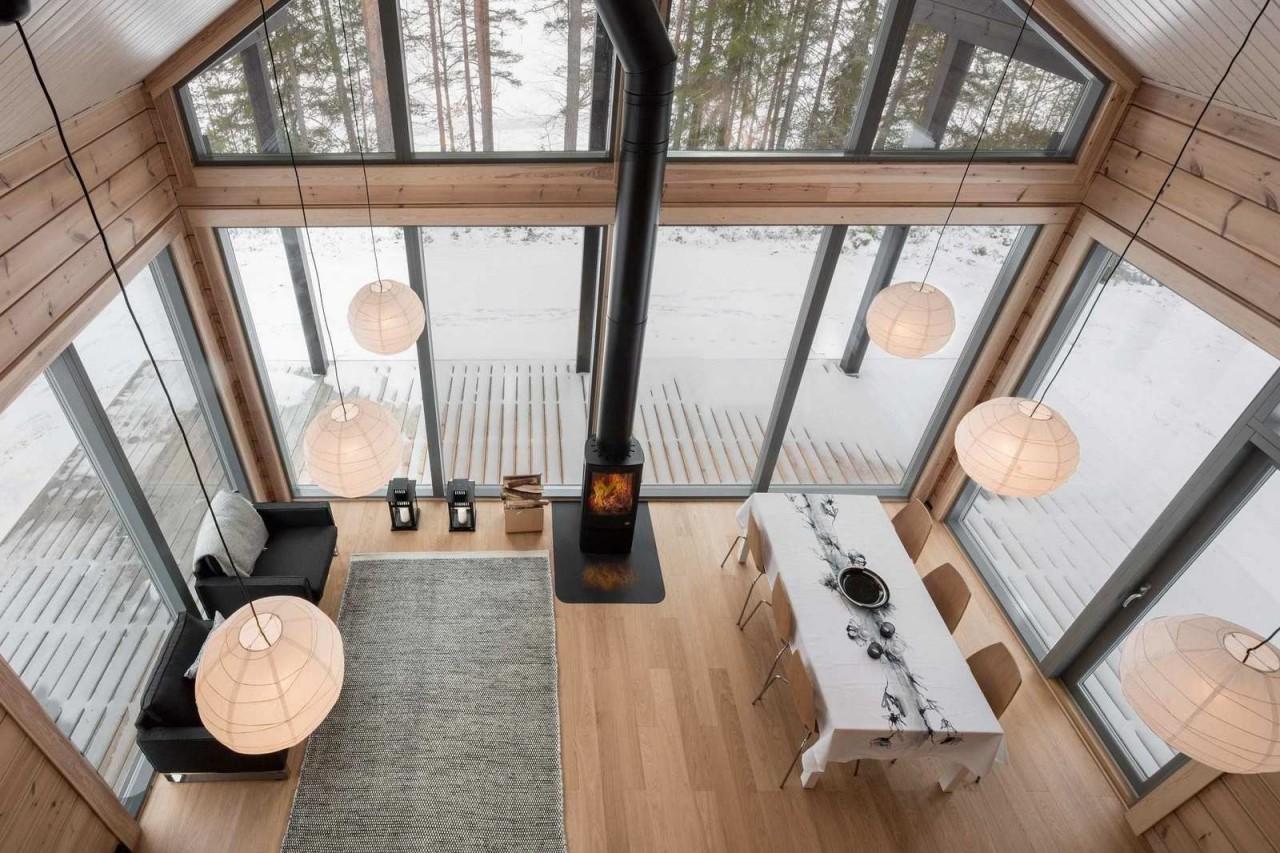 Дом из брёвен в Финляндии