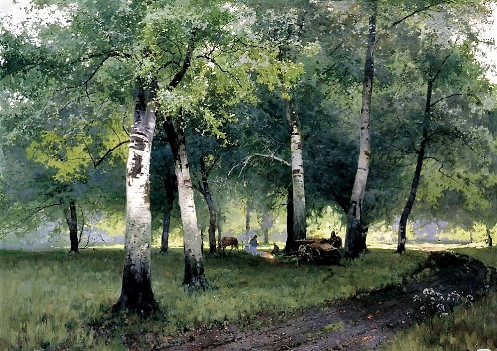 """""""Березовый лес"""", 1908, холст, масло"""