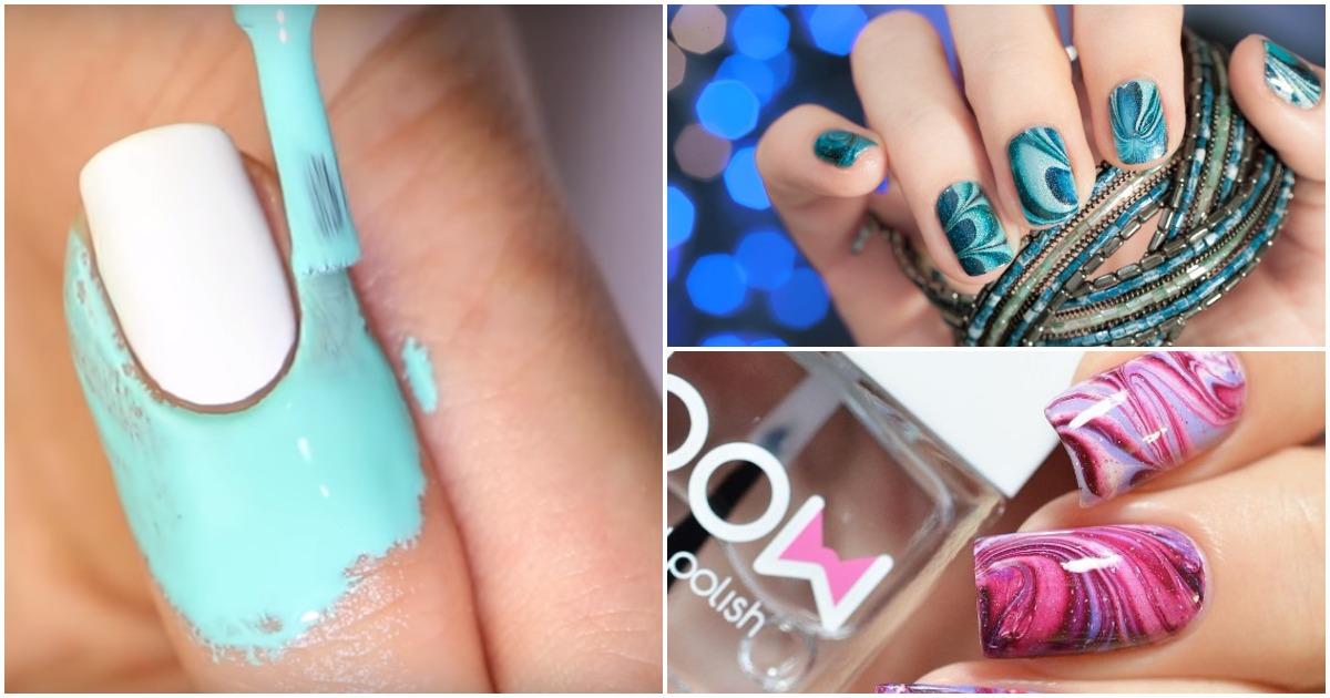 Сделайте необычные полотна на своих ногтях при помощи водного маникюра