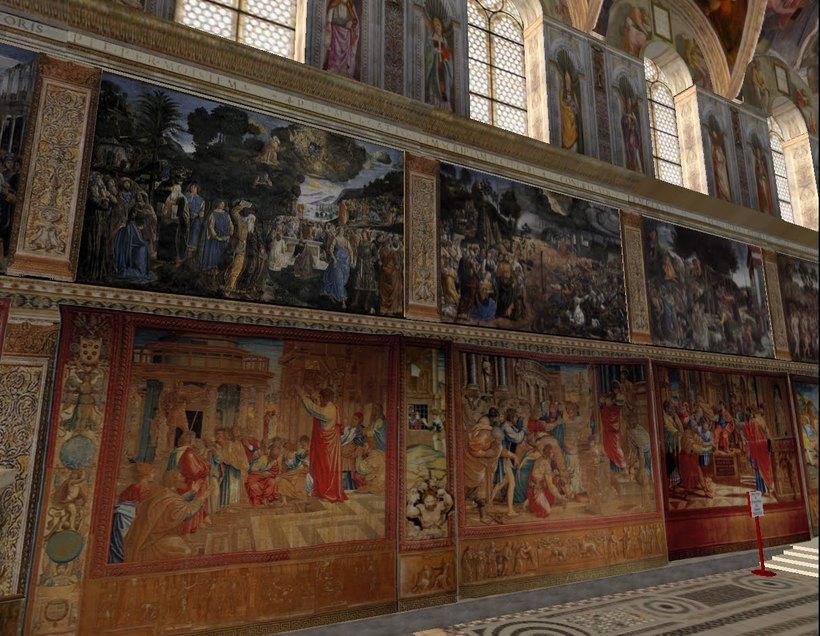 сикстинская капелла фото фресок боттичелли это