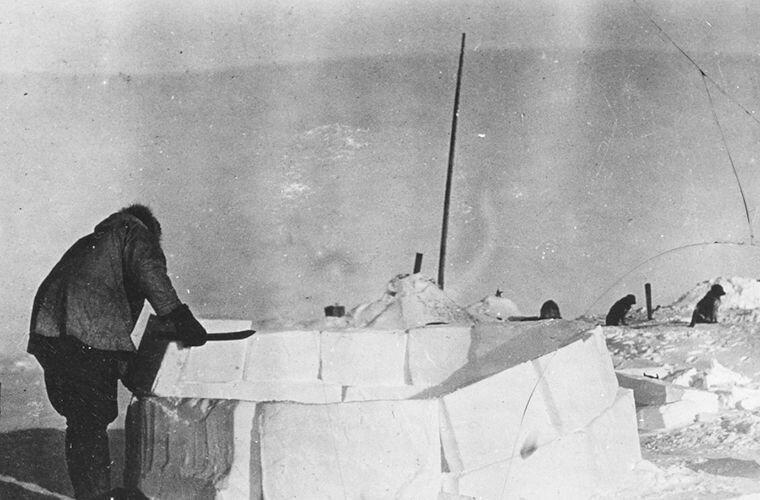 Найт строит иглу Ада Блэкджек, арктика, интересно, история, познавательно, факты