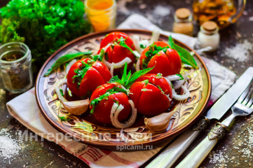 быстрые помидоры по-армянски