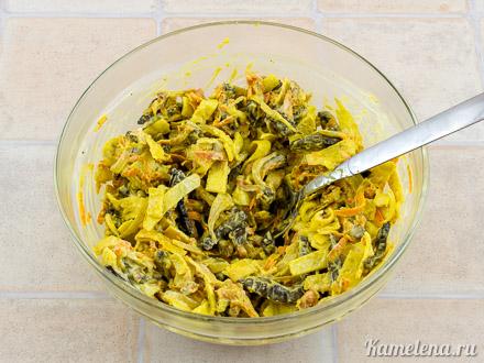 Салат с говяжьей печенью — 13 шаг