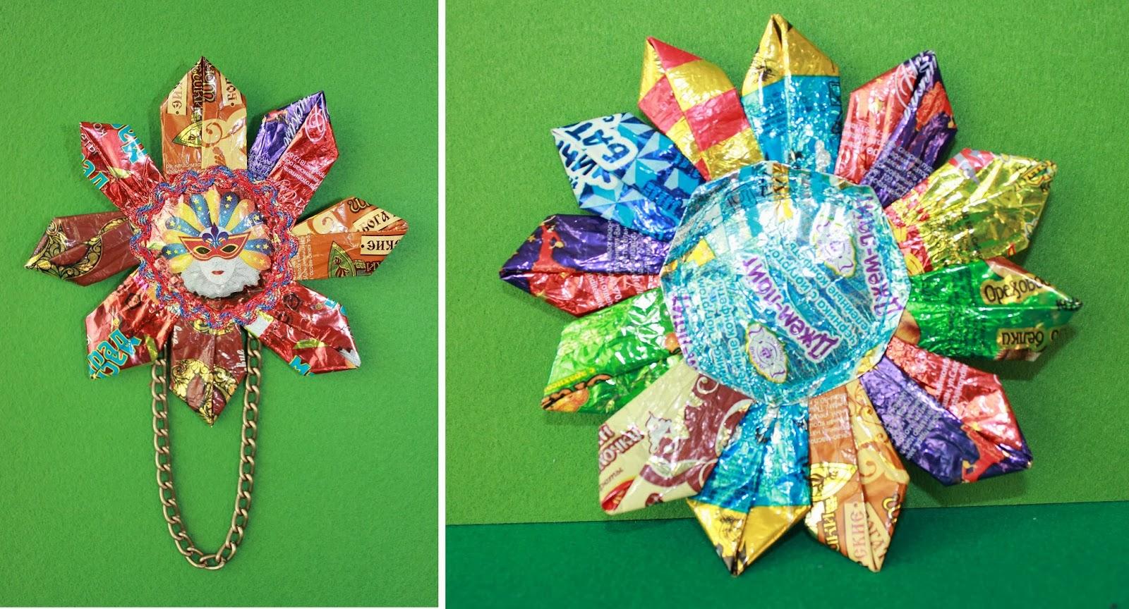 Открытки из конфетных фантиков