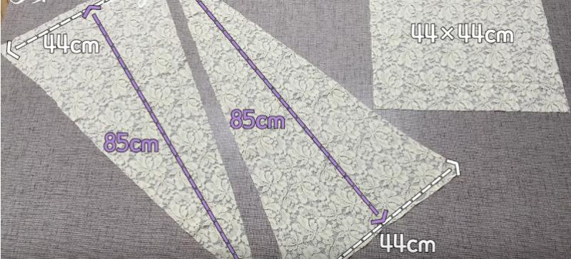 Топ, жилет и накидка — в одном: гениальная в своей простоте кружевная кофта-трансформер очень, заготовку, треугольную, стороне, квадратную, всего, квадратом, заготовок, вверх, лучше, изнанкой, стороны, вырезаем, образом, прошиваем, подвернутой, жилет, квадрат, соединяя, отмеряем