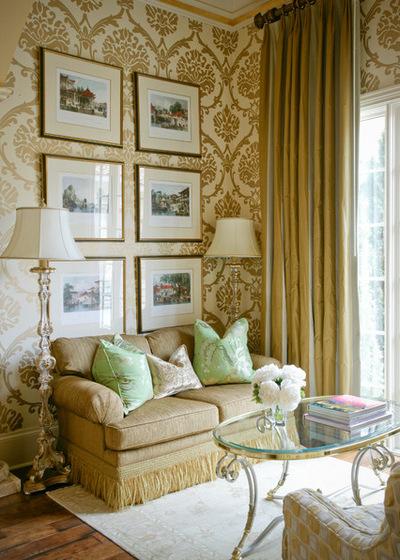 Тропический Гостиная by Tobi Fairley Interior Design