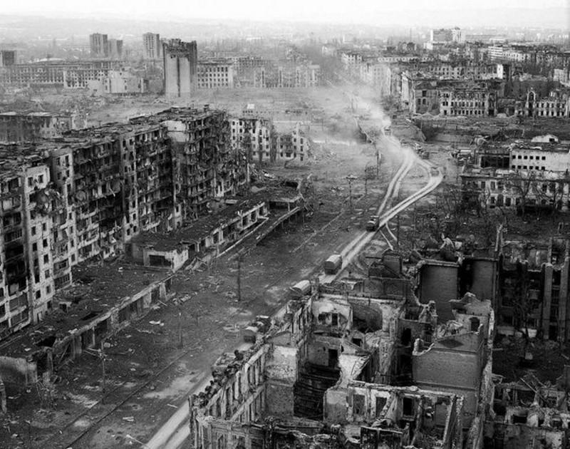 Грозный после штурма, 1995 год, Россия история, картинки, фото
