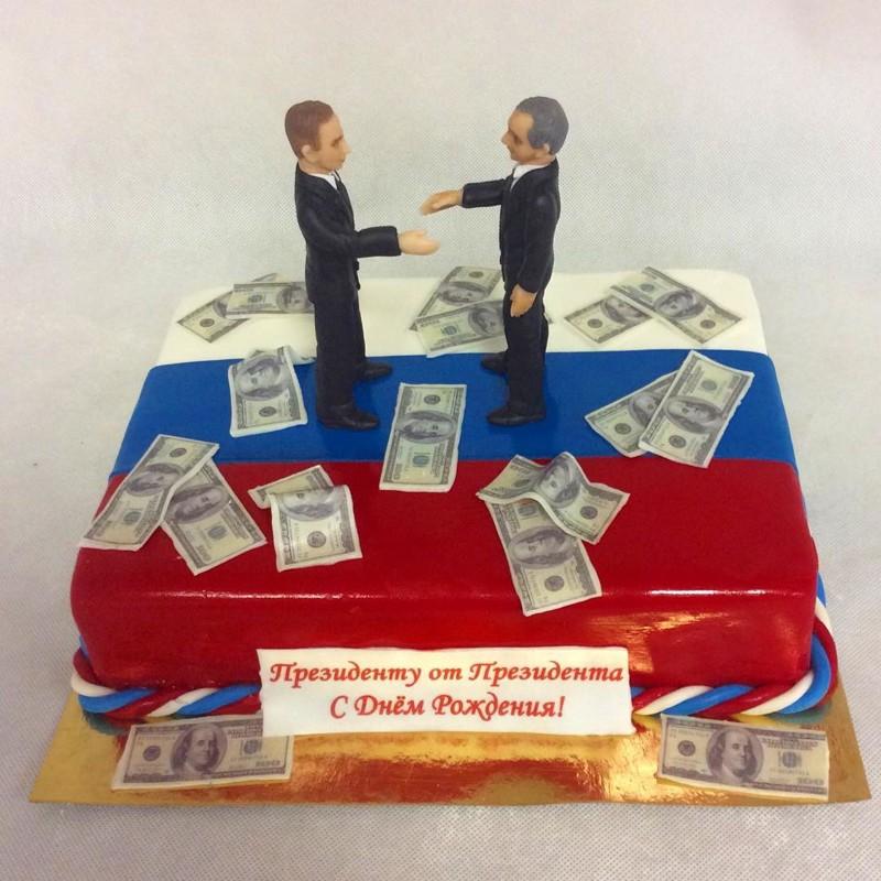 В России каждый сам себе президент прикол, россия, торт