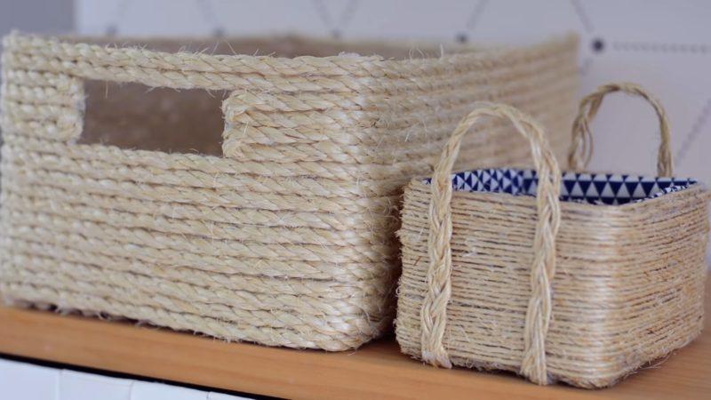 Простая техника создания корзин: ничего шить, плести и вязать не придется