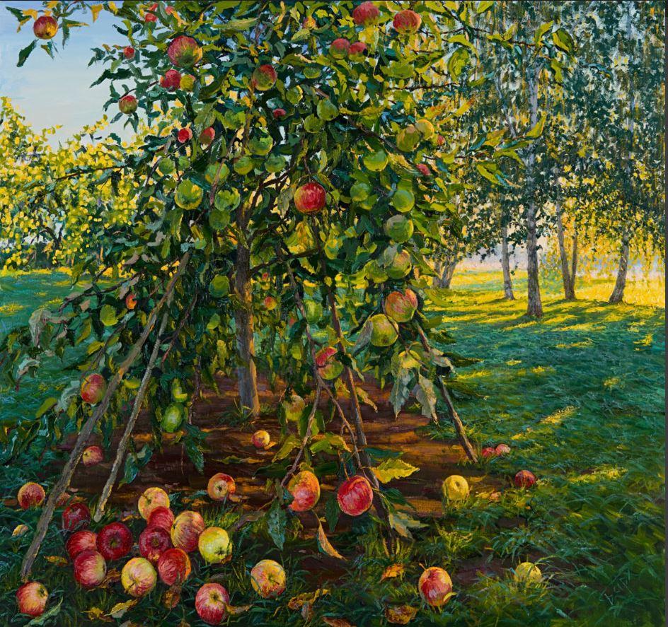 Картинка с яблоней с молодильными яблоками