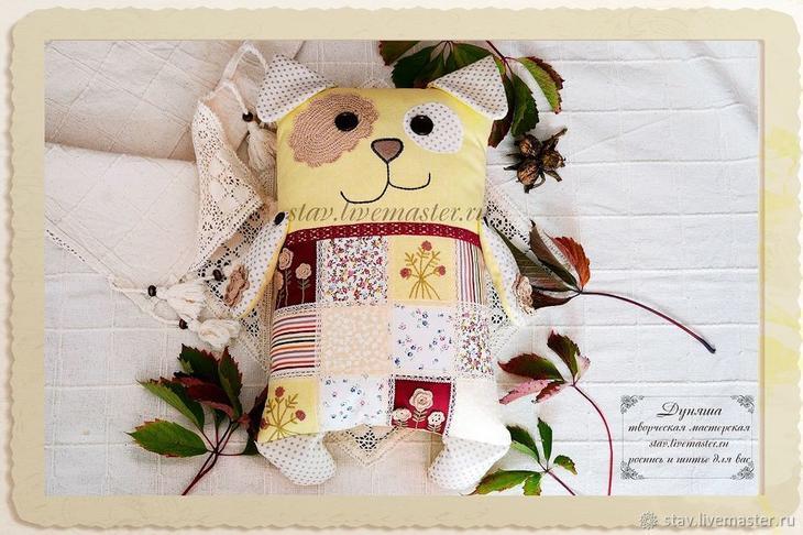 Шьем подушку-игрушку в виде собаки подушка сидушка,рукоделие,своими руками,сделай сам