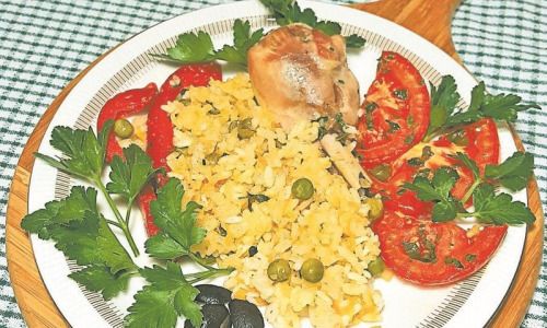 Рецепт дня: Рис с курицей
