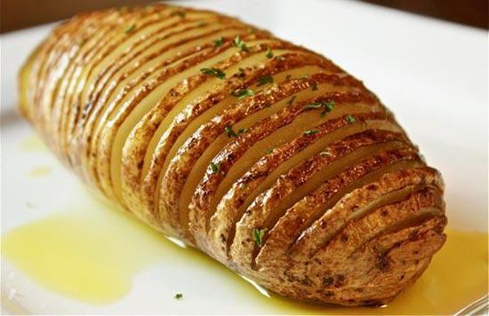 картофель в мундире в духовке хассельбек