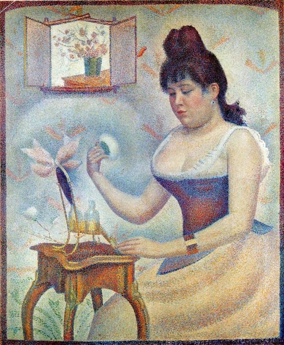 Пудрящаяся девушка. \ Фото: njbiblio173.rssing.com.