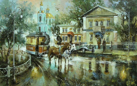 Художник Сергей Боев. Москва романтическая