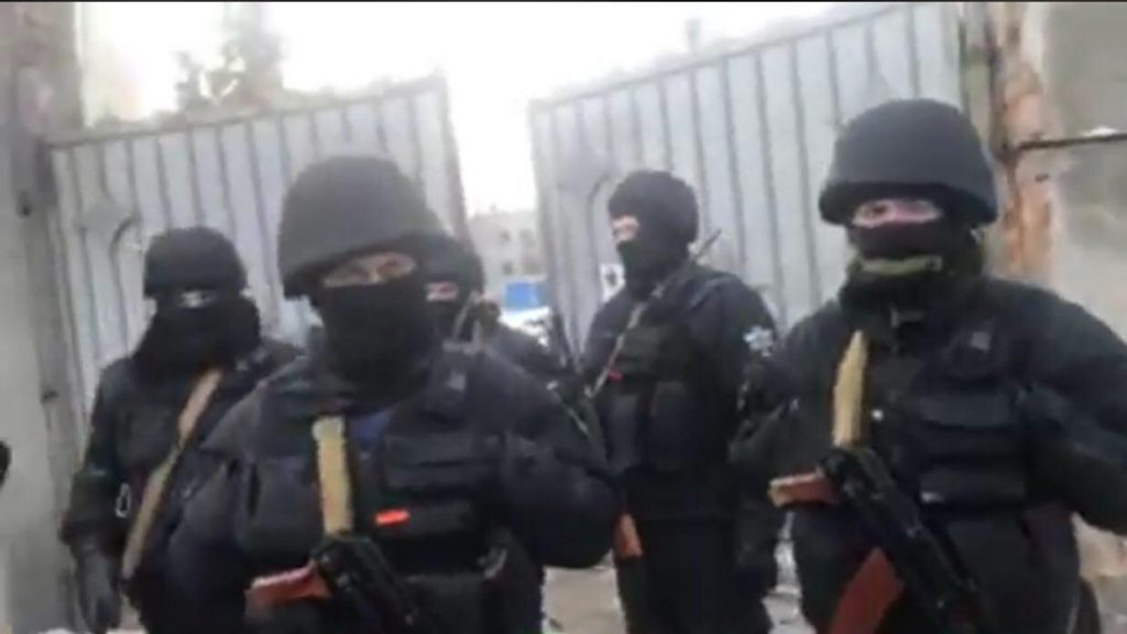 В Киеве вооруженный спецназ …