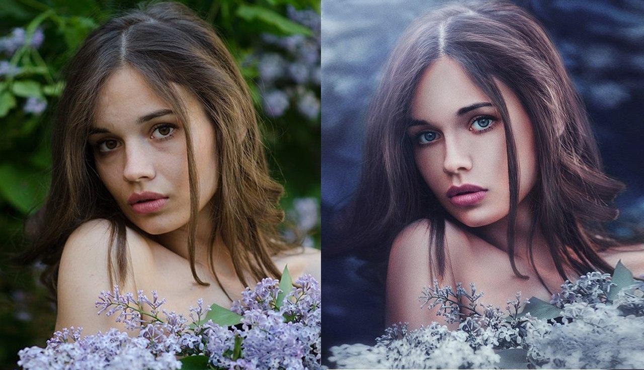 Обработка фото много света