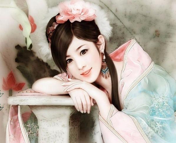 Красавицы китайских мастеров живописи