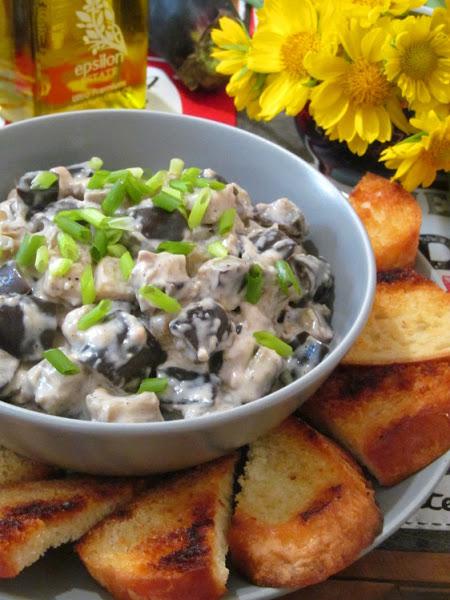 Закуска из баклажанов с плавленым сыром закуски
