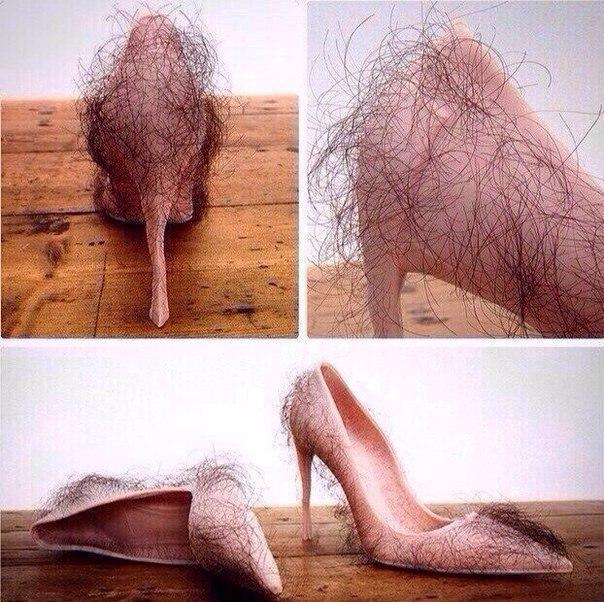 модные туфельки. И такое бывает.