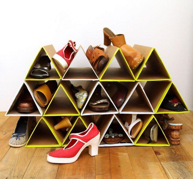 10 простых идей, как превратить обычную картонную коробку в полезную вещь для дома идеи и вдохновение,интерьер