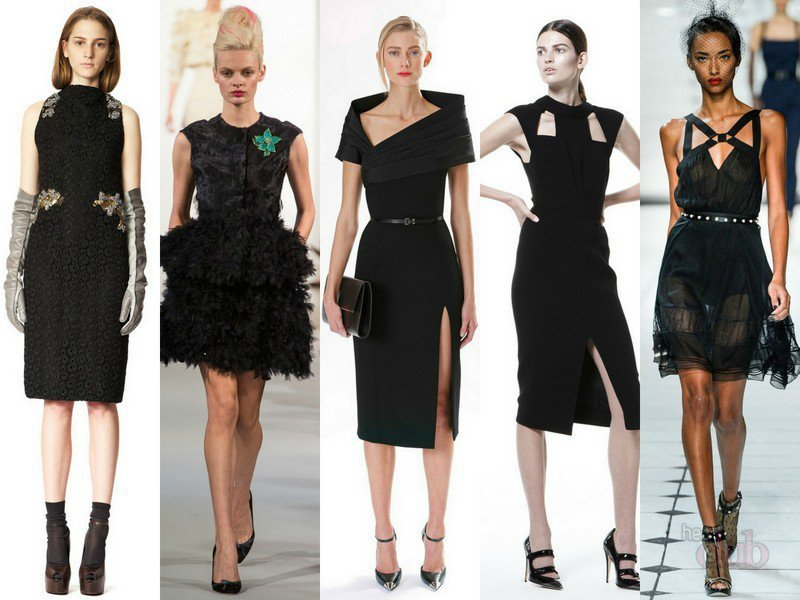 Картинки по запросу Выбираем образ с черным платьем или с черной юбкой